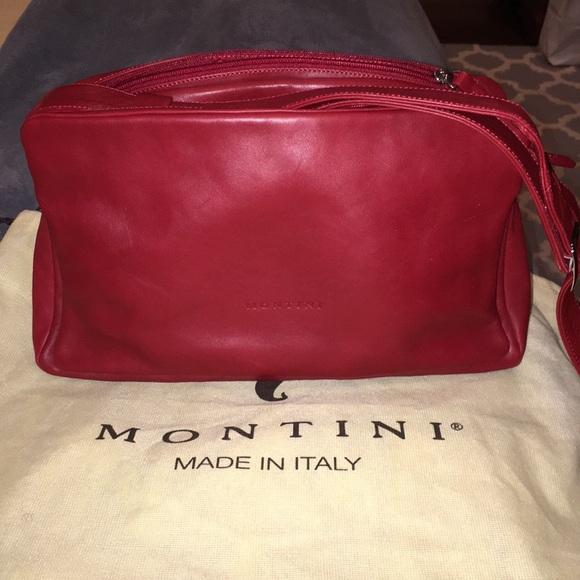 9c624e1edf05 Montini Italian Handbag Rich Red Leather. M 5a94a8ef3b1608467831cef7